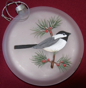 Chickadee-ornament