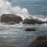 Crashing Surf - 16 x 20 oil  Sold