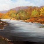 Margaree River, Wash Pool - 22 x 28 oil
