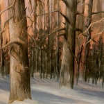 Winter Sentinels - 16 x 20 oil