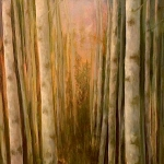Birch Grove - 15 x 30 oil