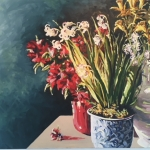 Easter Sunday Still Life                                                      oil on canvas 48 X 36